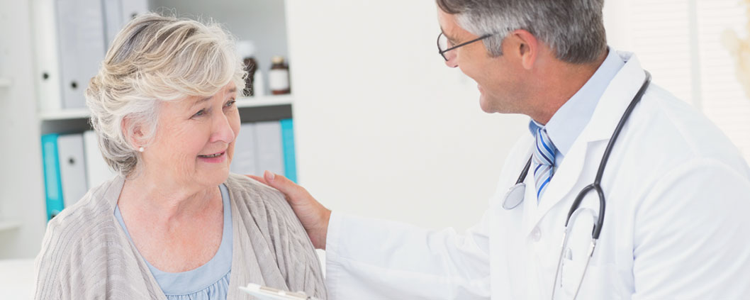 doctor treating lady